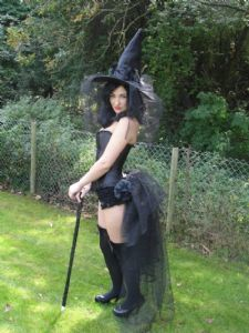 Burlesque Halloween Witch - Full Costume